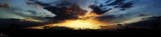 160 degree sunset